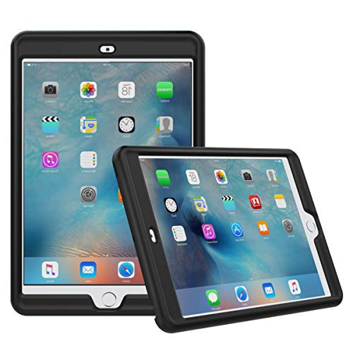 MoKo Case Fit iPad Mini 3/2 / 1- [Honey Comb Series] Light Weight Shock Proof Soft Silicone Back Cover [Kids Friendly] Fit Apple iPad Mini 1 (2012), iPad Mini 2 (2013), iPad Mini 3 (2014), Black (Ipad Case Mini Silicone)