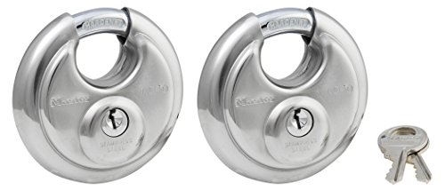 Stainless Steel Discus Lock, 2-3/4 in. Wide, 40T (Pack of 2-Keyed Alike) ()