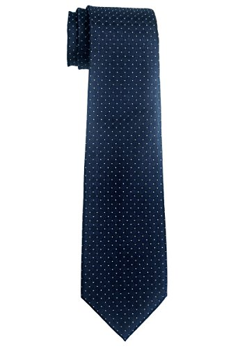 Retreez Check Textured Woven Boy's Tie (8-10 years) - Navy Blue