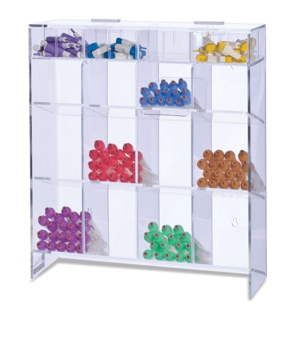 - Clearform ML7889 Clear Acrylic Extra Large Tube Rack, 17.5