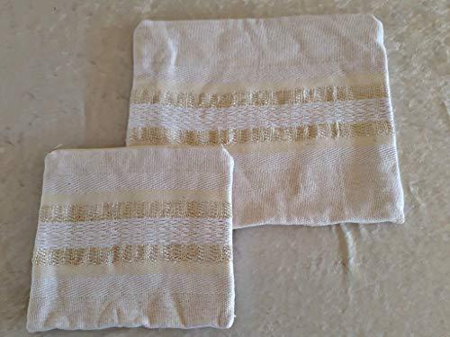 (Set of Tefillin Bag & Tallit Bag, Cotton Tallit & Tefillin Bag, Judaica Gift, Jewish Gift, Bar Mitzvah Gift, Prayer Bag, Tefillin Case)
