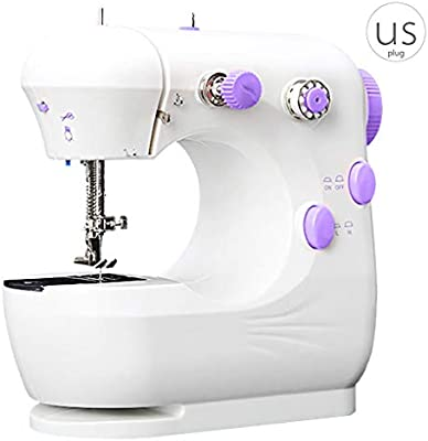 Amazon Com Dtower Mini Electric Sewing Machine Portable Household Sewing Machine Beginner Tailors Free Arm Crafting Mending Machine