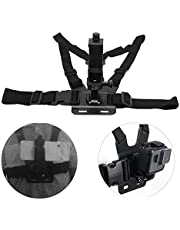 Adjustable Chest Harness Strap - Action Camera Body Belt Harness - Convenient Hanging Safety Belt - for Gopro Motion Camera & Smart Phones