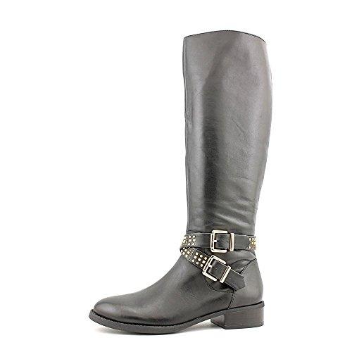 Inc International Concepts Farrah Mujeres Black Leather Knee High Fashion Botas