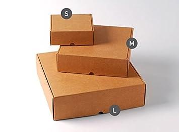 Selfpackaging Caja automontable para envíos Cuadrada Muy Resistente, en cartón microcanal Color Kraft. Pack de 50 Unidades - S: Amazon.es: Hogar