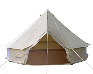 DANCHEL 4-Season Family Cotton Bell Tents (10ft 13.1ft 16.4ft 19.7ft Dia. Size Options)