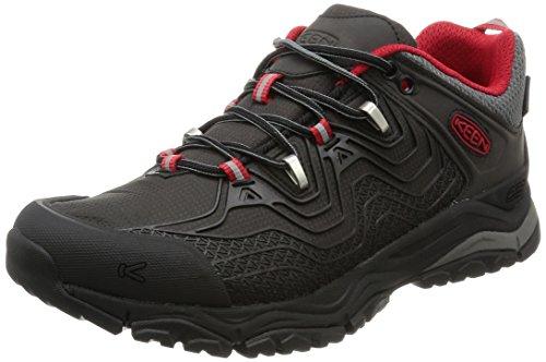 KEEN Men's Aphlex Waterproof Hiking Shoe, black/Tango, 8.5 M US by KEEN