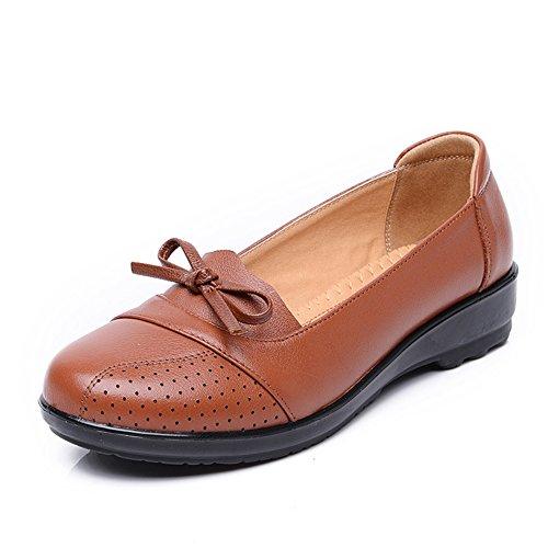 zapatos asakuchi madre/Plano medio y viejo de zapatos de mujer/Zapatos de fondo suave/Zapatos de las mujeres C