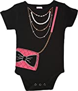 CHUBS - Made In The USA, Necklace And Bag Bodysuit, Unique Baby Gifts For Girl