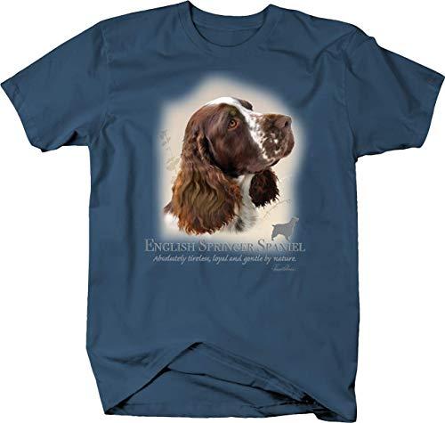 Cute English Springer Spaniel Dog Head Looking Shirt Quote Tshirt - XLarge