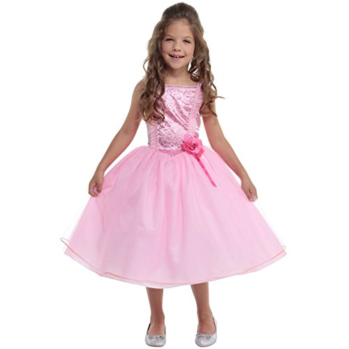 Fairytale Dresses For Kids (Girls Princess Pink Fairy Fairytale Fancy Dress Costume 10 - 12 Years)