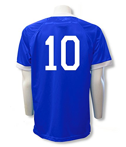 Soccer team jersey customized with your player number - size Adult XL - color Royal