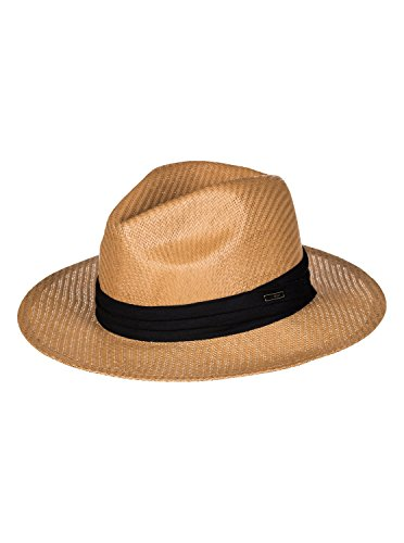 Roxy Women's Here We Go Straw Panama Hat, Natural, S/M