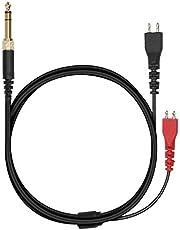 kwmobile Hoofdtelefoonkabel compatibel met Sennheiser HD25 / HD560 / HD540 / HD480 / HD430 / HD414 / HD250 - zonder microfoon en knoppen - 3,5 mm jack kabel voor hoofdtelefoon - 255 cm