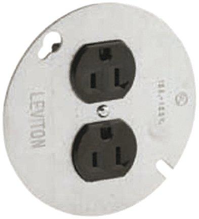Leviton 5042 15 Amp, 125 Volt, Duplex Receptacle On 4-Inch Cover, Zinc Plated (Leviton Duplex Receptacle)