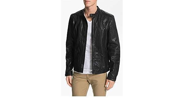 brandMe Mens Genuine Leather Pure Lambskin Biker Jacket MM342