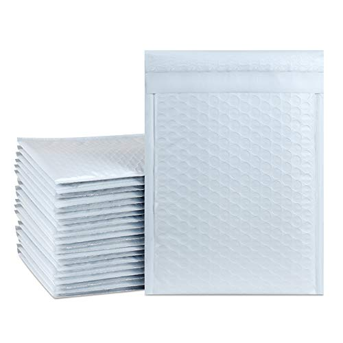 UCGOU 7.25x12 Inch White Padded Envelopes #1 Water Proof Poly Bubble Mailers Self Seal Mailing Envelopes 25pcs Waterproof Envelopes