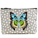 Thirty-one Zipper Pouch Lotsa Dots with Butterfly