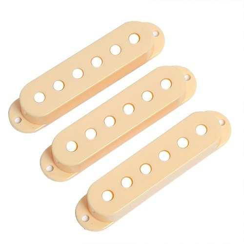 3pcs Single Coil Covers Pickup Cream for Fender Guitar Replacement