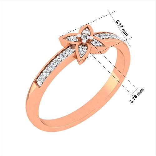 Or Blanc 9Ct Bague Diamant, 0.15Ct Diamant (GH Couleur, P1 La clarté)