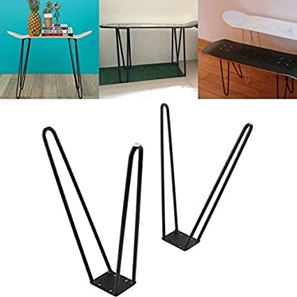 Tengchang Coffee Table Skateboard Hairpin Legs 17u0026quot; Set Of Two 10mm  Solid Iron Bar W