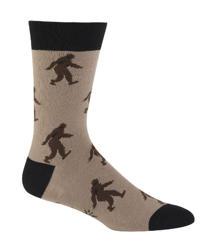 Sock It To Me Men's Crew Socks,Sasquatch Brown,One Size Fits Most (fits men's shoe size 7-13 approx)