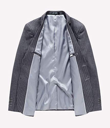 De Blazer Coupe Business Essentiel Court Manteau Pinstripe Costume Revers Sport Slim Élégant Veste Grau Style Et dTTxgwq8