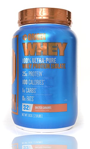 Origin Supps 100% Ultra Pure Whey 2 Pounds 25g Protein Powder Isolate [PERFORMANCE SERIES] – Salted Caramel Review