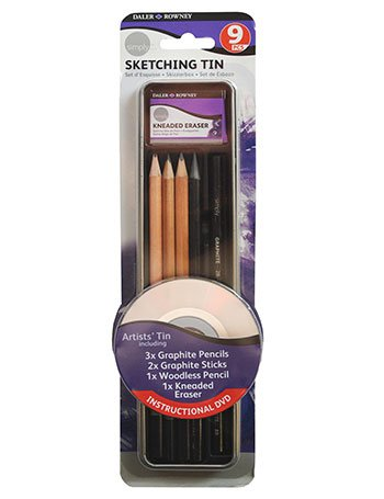 - Daler Rowney Simply Pencil Sketching Tin Set (9 Pieces) by