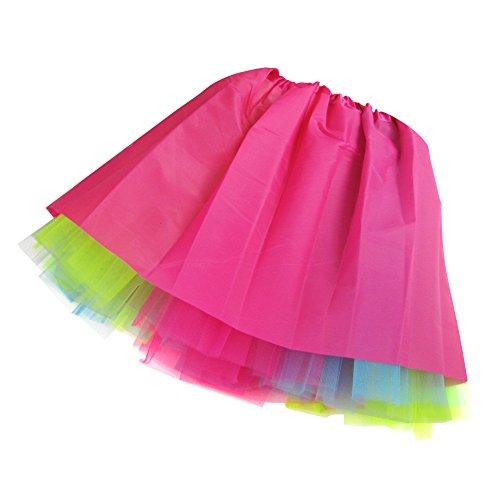 Femme Organza Color D'lastique 3 Mini Imixcity Robe Jupe Couleurs 12 Pettiskirt Couche fd1Zw4q