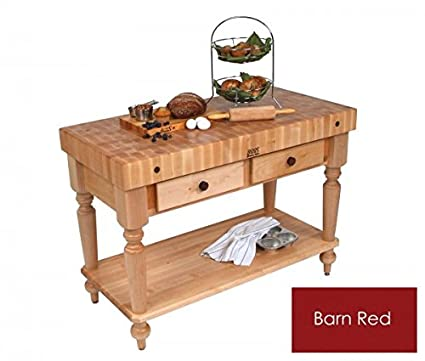 Amazon.com: John Boos Cucina Rustica Kitchen Island: Home ...