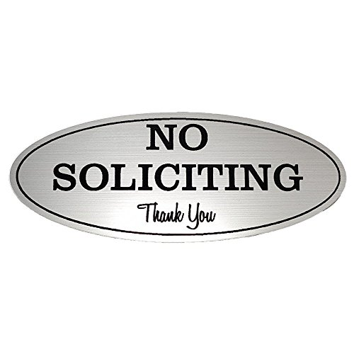 No Soliciting Sign - Laser Engraved Sign (Medium - 2.8