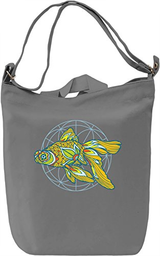 Goldfish Borsa Giornaliera Canvas Canvas Day Bag  100% Premium Cotton Canvas  DTG Printing 