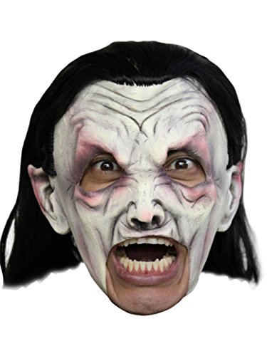 Dracula Vampire Deluxe Chinless Head Mask With Chinstrap Latex Halloween Mask by CC by CCC (Image #1)