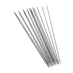 "11 Sizes 10"" 25CM Stainless Steel Double Pointed Knitting Needles Crafts Yarn Tool Sets 44Pcs"