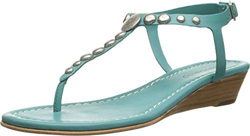 Turquoise Women's Mojo Sandal Calf Wedge Wedge Bernardo qRzXO8wq