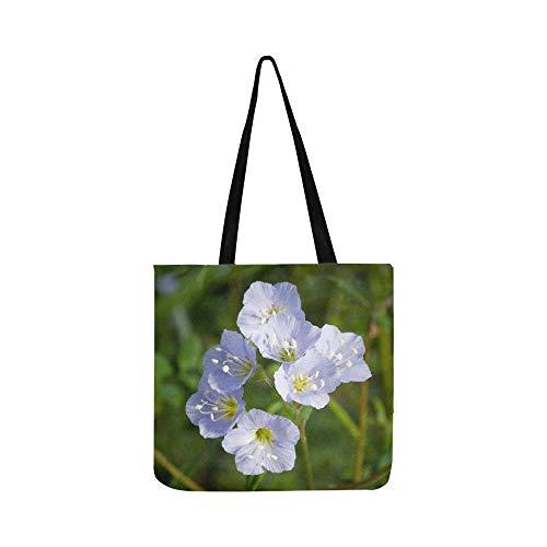 Jacobs Ladder Flower Greek Valerian Polemonium Canvas Tote Handbag Shoulder Bag Crossbody Bags Purses For Men And Women Shopping Tote