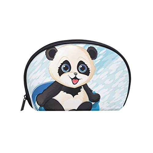 imobaby Baby Panda On Sled Cosmetic Makeup Bag Organizer for Women Travel Kit With Zipper Multifunction Toiletry Case Storage - Infant Sleds
