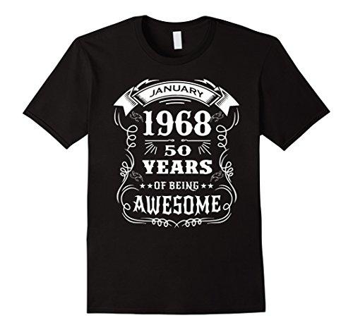 Mens 50th Birthday Gift - Born in January 1968 T-Shirt XL Black