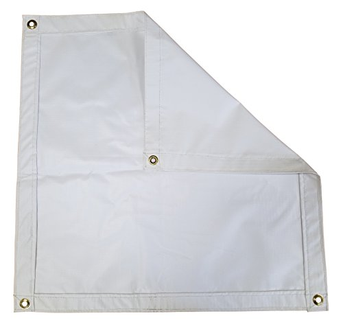 - 6 Ft. x 8 Ft. White Flame Retardant Vinyl Tarps - 13 OZ.