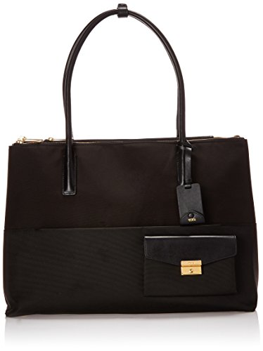 Tumi Larkin Hayes Triple Compartment Tote, Black, One (Triple Zip Tote)