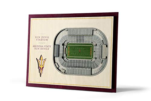 YouTheFan NCAA Arizona State Sun Devils 5-Layer Stadiumviews 3D Wall Art