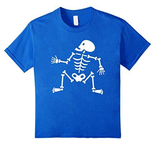 [Kids Dancin' Bones Halloween Costume T-Shirt 4 Royal Blue] (Joker Halloween Costume Nurse)