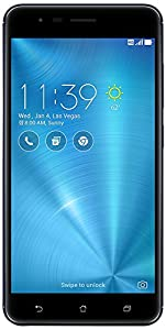 "ASUS Zenfone 3 Zoom ZE553KL-S625-3G32G-BK , 5.5"" LTE Unlocked Phone, Dual SIM, Dual Rear Camera , 32GB, Navy Black  (U.S Warranty)"