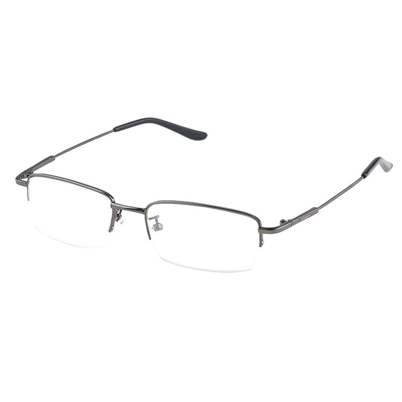 Xinvision Herren Damen Kurzsichtig Gläser,Hälfte Erinnerung Metall ...