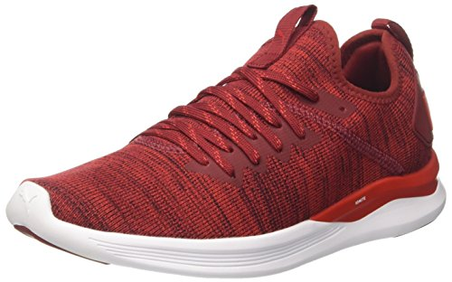 Ignite Risk Evoknit Red red White Dahlia Rot Puma puma Herren Sneaker high Flash 4q1fxpdwF