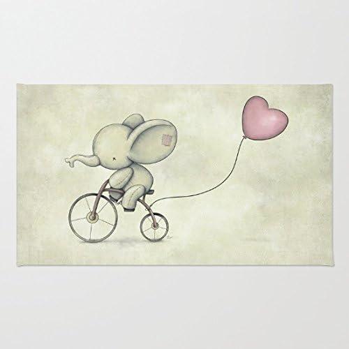 poppylife Cute elefante montar su bicicleta zona alfombra suave ...