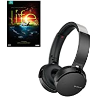 Sony MDRXB650BT/B Bass Bluetooth Headphones with Life DVD, Black
