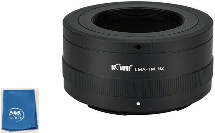 Kiwifotos LMA-TM/_NZ T Mount Lens to Nikon Z Mount Body Adapter for Z6 Z7 Cameras 650-1300mm 500mm