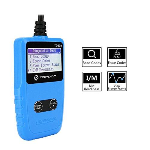 705ca15d14bb25 OBD2 OBDII Code Reader, TOPDON TD309 Auto Diagnostic Scan Tool Portable Automotive  Obd2 Scanner for 9-18V car SUV Light Truck, Code Readers   Scan Tools ...